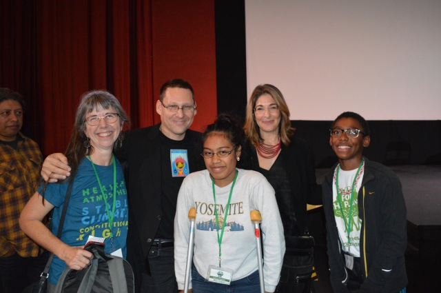 Miguel Robles and Pam Vergun and Avi Lewis and Miko and Naomi Klein and Isaac at the West Coast Premier of This Changes Everything
